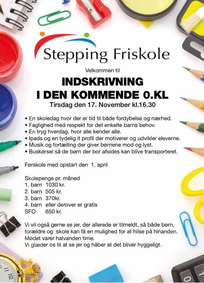 Indskrivning Stepping Friskole